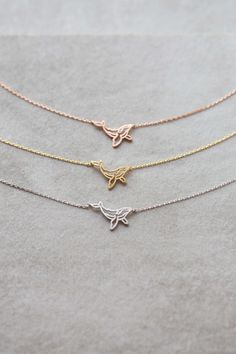 Whale Necklace $15 // Cute whale charm necklace available in gold, rose gold, and silver.