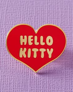 Official licensed Sanrio x Punky Pins Hello Kitty Heart Enamel Pin measuring x Free delivery over spend. Hello Kitty Dress, Hello Kitty Collection, Converse With Heart, Vintage Inspired Fashion, Sanrio Hello Kitty, Hard Enamel Pin, Cute Pins, Pin Badges, Heart Shapes