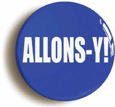 Allons-Y! David Tennant 10th Doctor Who Pin Button (Size 1inch Diameter) @ niftywarehouse.com #NiftyWarehouse #DoctorWho #DrWho #Whovians #SciFi #ScienceFiction #BBC #Show #TV