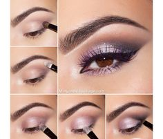 Pink and gray smoky eye