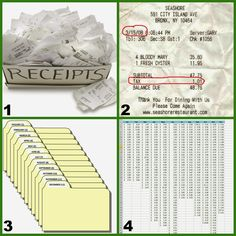 DIY in Steps in how to organize receipts for tax season Receipt Organization, Office Organization At Work, Financial Organization, Budget Organization, Paper Organization, Business Organization, Income Tax Preparation, Organize Receipts, Organizing Documents