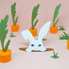 Joyeuse Pâques - Happy Easter - Illustration papier Lapin de Pâques by Melle Hervé