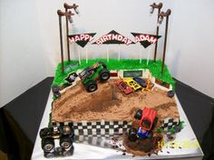 Brilliant Image of Monster Truck Birthday Cake . Monster Truck Birthday Cake Monster Truck Cakes Decoration Ideas Little Birthday Cakes Monster Jam Cake, Monster Truck Birthday Cake, Monster Truck Party, Torta Blaze, Digger Birthday, 4th Birthday, Birthday Ideas, Cake Birthday, Birthday Parties