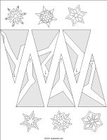 "Paper Snowflakes!!!  They look kinda pretty...  I think you have to print out the correct ""folding"" page above the patterns...I am going to try it and see if it works! ; )"