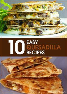 10 Quesadilla Recipes