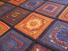 Ravelry 2009 CAL blanket by thornberry, via Flickr