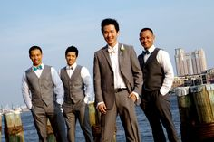 dockside groomsmen photos!