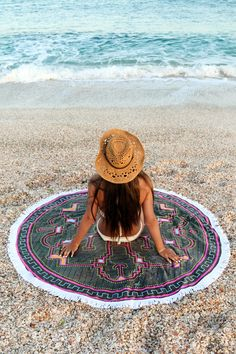 This amazing round towel is available from our shop , so soft and thick , will make your next beach holiday