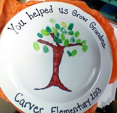 Sharpie plate for Foster Grandparent/Can be adapted and used for anyone as a gift