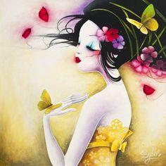 ILLUSTRATION...!  La douceur & la rêverie..! Art par Lady Sybile..!