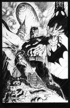 Buzz & Jim Lee - Batman, in JohnKontogianis's Batman Comic Art Gallery Room - 907344