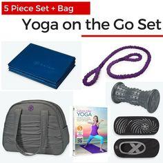Yoga On The Go Set with Yoga Bag