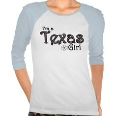 "Are you a Texas girl?  This cute shirt features a flower with a pink center and the words, ""I'm a Texas girl.""  This shirt is perfect for the girl who lives in or loves the great state of Texas!"