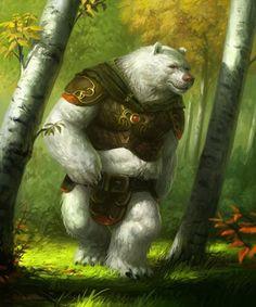 Bear warrior by Jakub Kasper