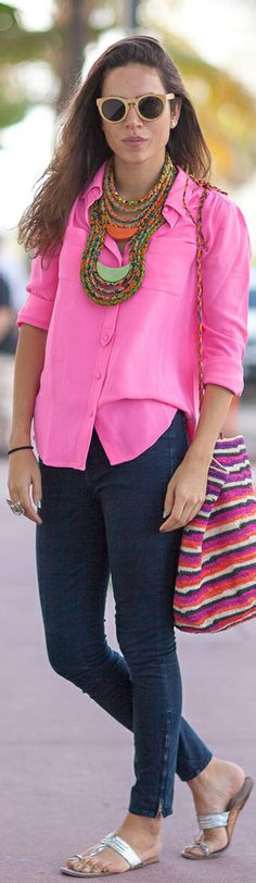 Street Style | Hot Pink