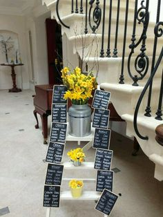 Table plan with flowers from Scented Narcissi <3