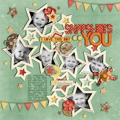 #papercraft #Scrapbook #layout.  Snapshots of You - Scrapbook.com