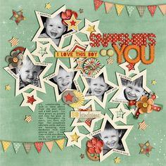 #papercraft #Scrapbook #layout.  Snapshots of You - Scrapbook.com