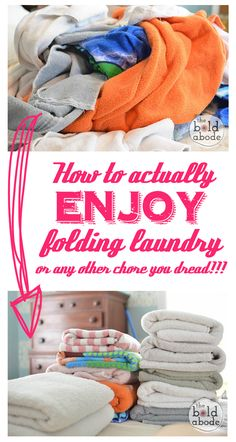 Use this simple little tip to stop procrastinating and enjoy folding laundry... or any other chore you dread!
