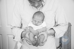 Hampshire photographer - new born - babies - portraits - Dove Grey Photography - Daddy and son