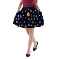 The Dark Planets. The Dark Planets A-Line Pocket Skirt.
