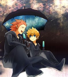 ive always thought roxas and axel were like the best unbiological brothers ever:)