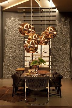 Bronze bulb pendants Tom Dixon