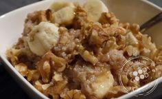 Quinoa-ontbijt met banaan en walnoot