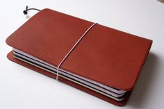 Leather Traveler's Notebook 8.5x6.25 by KrukisCorner on Etsy