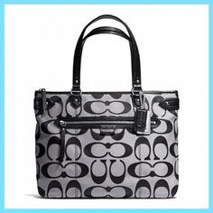 Black Friday Coach Daisy Outline Signature Metallic Emma Tote - 23938 from  Coach Cyber Monday f806d9086a2b9