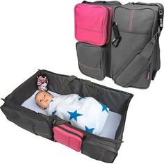 Boxum 3 in 1 - Diaper Bag - Travel Bassinet - Change Station (Pink) #1 Baby Diaper Tote Bag Bed Nappy Infant Carrycot Crib Cot Nursery Portable Change Table Portacrib Boy Girl Top Best Quality Newborn