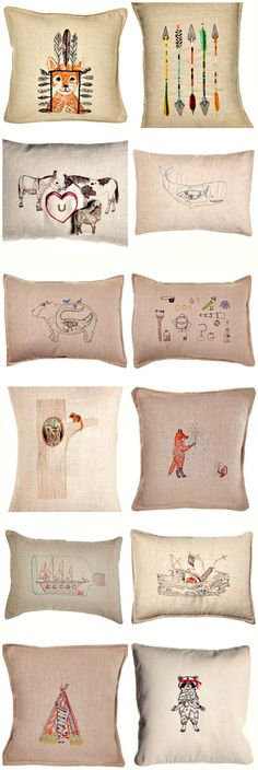 coral & tusk pillows