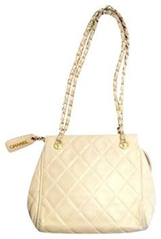 Chanel Beige Vintage Handbag Evening Wedding Neutral Quilted Shoulder Bag. Get one of the hottest styles of the season! The Chanel Beige Vintage Handbag Evening Wedding Neutral Quilted Shoulder Bag is a top 10 member favorite on Tradesy. Save on yours before they're sold out!