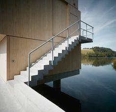 5osA: [오사] :: *호수위의 대피소, 자연과 병치되다 [ AFGH Architekten ] Dock Connects Lake Building to Shore in Switzerland