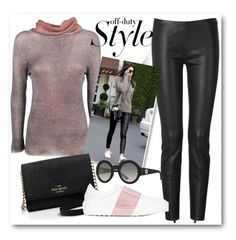 """""""Model Off Duty Style"""" by eileenelizabeth ❤ liked on Polyvore featuring Jitrois, Kate Spade, Valentino, Gucci, polyvoreeditorial, offduty and polyvorecontest"""