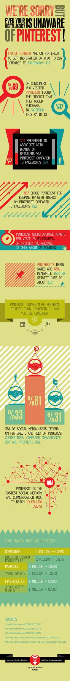 We're sorry but even your digital agency is unaware of #Pinterest #infographic #ecommerce #conversion