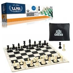 Bag Forest Green Board Basic Chess Set Combination Single Weighted