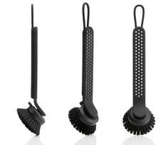 Vipp 280 Washing up brush Black & steel by Vipp
