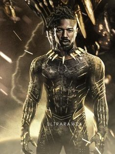 Black Panther: Erik Killmonger (Michael B. Marvel Films, Marvel Dc Comics, Marvel Characters, Marvel Heroes, Marvel Avengers, Black Panther Art, Black Panther Marvel, Panther Pictures, Erik Killmonger