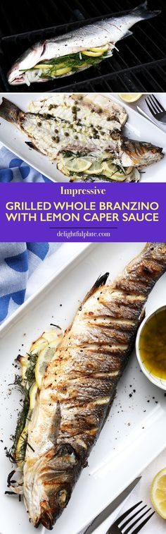 Grilled whole branzino looks impressive and tastes delicious. The skin is crispy and the inside is juicy – this recipe will help you impress your loved ones and your guests for sure. Also learn all the easy steps to grill and serve grilled whole fish in this post.
