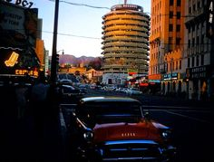 Capitol Records building in the late 1950s.