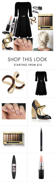 """""""Megan: October 3, 2016"""" by disneyfreaks39 ❤ liked on Polyvore featuring Michael Kors, Love Moschino, Dolce&Gabbana, Max Factor, NARS Cosmetics, Maybelline and MAC Cosmetics"""