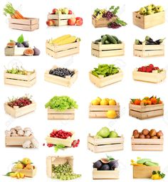 Find Collage Fruits Vegetables Wooden Boxes Isolated stock images in HD and millions of other royalty-free stock photos, illustrations and vectors in the Shutterstock collection. Southern Fried Cabbage, Bacon Fried Cabbage, Honey Roasted Carrots, Kitchen Wall Art, Side Dishes Easy, Miniture Things, Fruits And Vegetables, Wooden Boxes, Food Photography