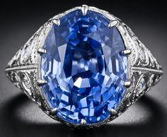 Antickém stylu chrpa modrá, přírodní, bez tepla Ceylon safírový prsten