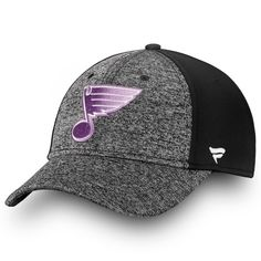 36013d5fbbc Men s St. Louis Blues Fanatics Branded Black White 2018 Hockey Fights  Cancer Speed Flex Hat