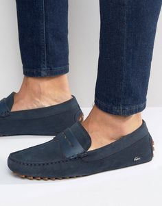 Browse online for the newest Lacoste Concours Loafers styles. Blue Loafers, Loafers Outfit, Loafers Men, Lacoste Shoes Mens, Lacoste Sneakers, Hot Shoes, Men's Shoes, Dress Shoes, Wing Shoes