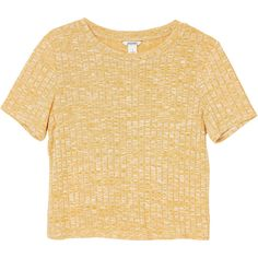 Monki Rosalita top (23 CAD) ❤ liked on Polyvore featuring tops, clothes - tops, shirts, sunflowers times two, ribbed shirt, beige crop top, ribbed top, ribbed crop top and beige shirt