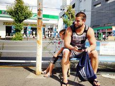 That street life view. Amagasaki, Japan.