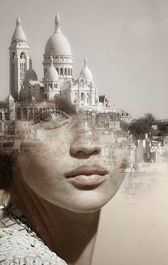 Blends Humans With Nature In Beautifully-Surreal Portrait Series La Cariátide by Antonio Mora.°La Cariátide by Antonio Mora. Portraits En Double Exposition, Exposition Multiple, Surreal Photos, Surreal Art, Surreal Portraits, Fantasy Portraits, Photomontage, Creative Photography, Portrait Photography