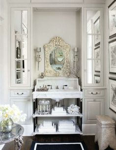 Marble, Shell Mirror and Organized!